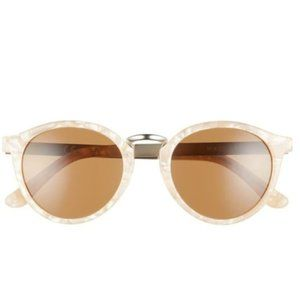 Madewell Indio 48mm Round Flash Sunglasses - Blush